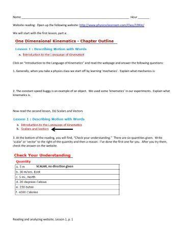 Relative Motion Worksheet - Image Mag
