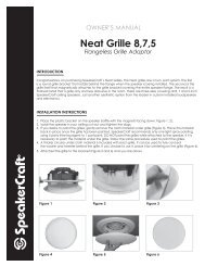 Neat Grille Manual - SpeakerCraft