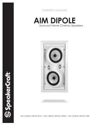 Aim Cinema Dipole Five Manual - SpeakerCraft