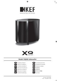 Model XQ60b Subwoofer - SpeakerPoint