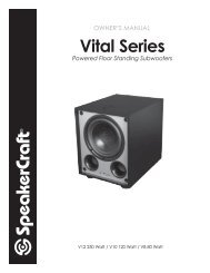 Vital Series Sub Web - SpeakerCraft