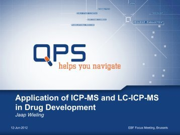 Application of ICP-MS and LC-ICP-MS in Drug Development