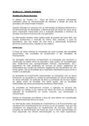 DIOPS 4.0 – NOVOS QUADROS Quadro 15: Fluxo de Caixa ... - ANS