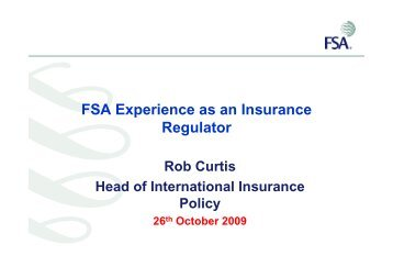 FSA Experience as an Insurance Regulator - Ans