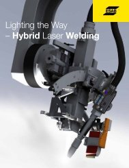 Hybrid Laser Welding - ESAB Welding & Cutting Products