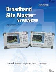 Broadband Site Master™ Broadband Site Master - SGLabs
