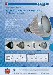 Lucid area PAR 38 ES (E27) LED-illuminant