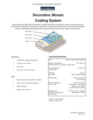 Decorative Mosaic Coating System - Industrial Epoxy Flooring for ...