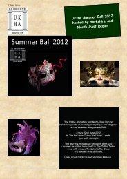 Summer Ball 2012 - UK Housekeepers Association