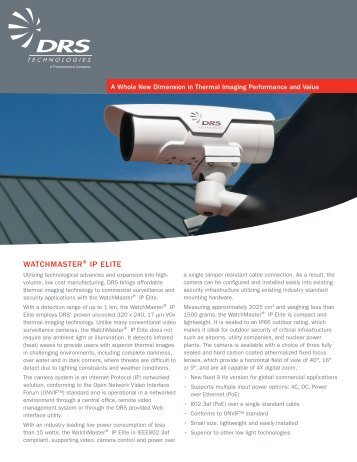 to download the WatchMaster IP Elite Product Brochure - Infrared, Inc.
