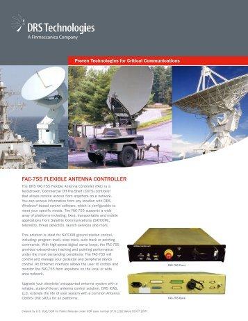 FAC-755 FLEXIBLE ANTENNA CONTROLLER - DRS Technologies