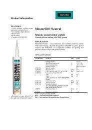 MasterSil® Neutral Silicone construction sealant