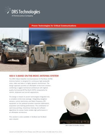 X60-V XOTM Antenna System - DRS Technologies