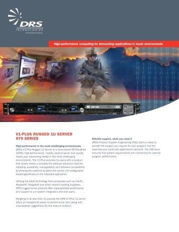 V1-Plus Rugged 1u seRVeR 979 seRies - DRS Technologies