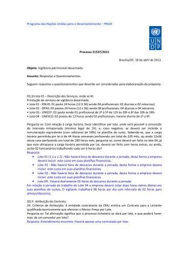 PNUD Processo 21537/2013 Brasília/DF, 18 de abril de 2013 ...
