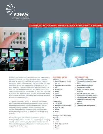 ELECTRONIC SECURITY SOLUTIONS - DRS Technologies