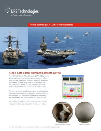 x122-s 1.2m x-band shipboard satcom system - DRS Technologies