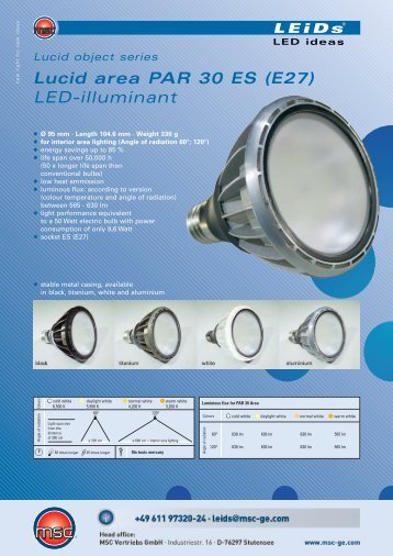 Lucid area PAR 30 ES (E27) LED-illuminant