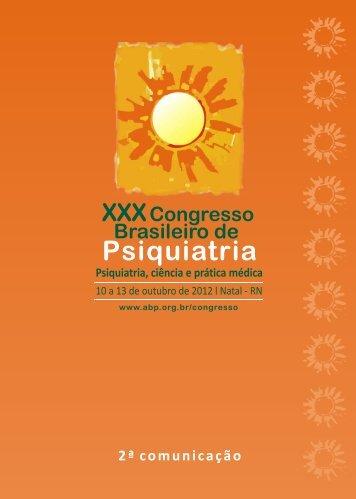 Programa Preliminar - XXXI Congresso Brasileiro de Psiquiatria