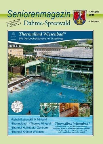 Seniorenmagazin Dahme-Spreewald - 1. Ausgabe 2015