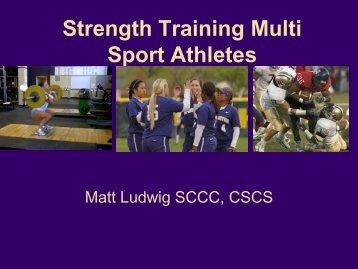 Strength Training For Sprint Speed - GoHuskies.com