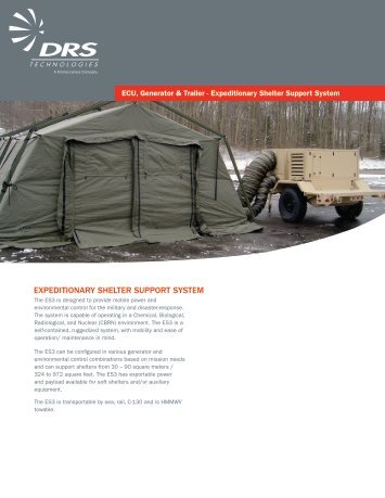 expeditionary shelter support system