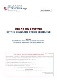 RULES ON LISTING