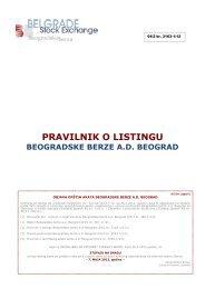 Pravilnik o listingu