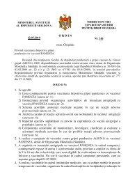 Ordin № 316 din 05.12.2010 cu privire la vaccinari antigripale ...