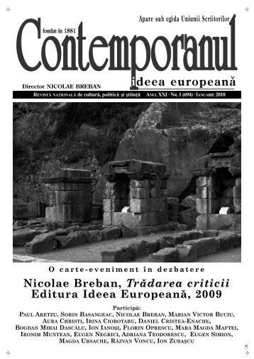 Nicolae Breban, Trădarea criticii Editura Ideea ... - Ideea Europeana