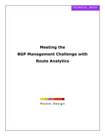 (BGP) Management Challenge with Route Analysis - Network Media