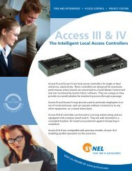 Access III & IV 01 FINAL OUT - Synel USA