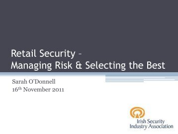Retail Security - Association of Irish Risk Management AIRM