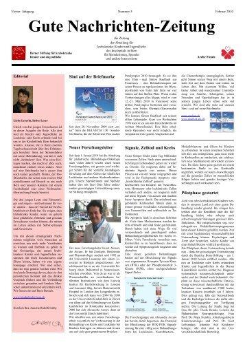 Gute Nachrichten-Zeitung 2 - Berner Stiftung für krebskranke Kinder ...