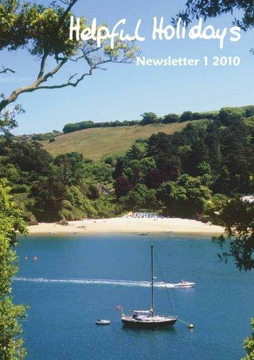 Newsletter 1 2010 - Helpful Holidays