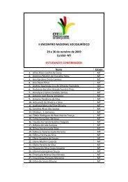 Veja aqui a lista de estudantes - CFESS