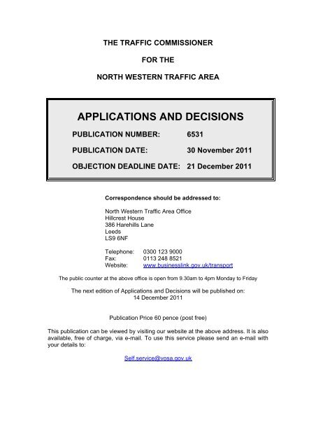 Applications And Decisions Driver And Vehicle Licensing Agency
