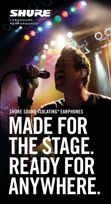 Shure SE315 Brochure - Music Direct