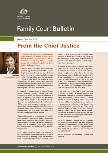 Open PDF - Family Court Bulletin - December 2009 - Size 482 KB