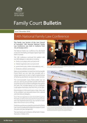 Open PDF - Family Court Bulletin - December 2010 - Size 708 KB