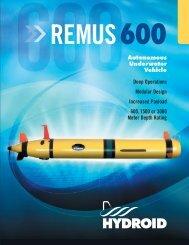 Remus 600 Autonomous Underwater Vehicle