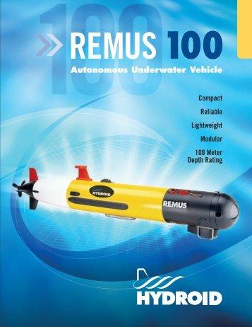 Brochure - Remus 100 Autonomous Underwater Vehicle