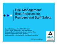 Risk Management: Best Practices for Resident and Staff Safety