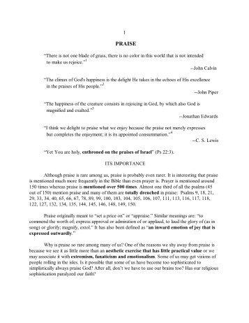 10. Praise - Vital Christianity