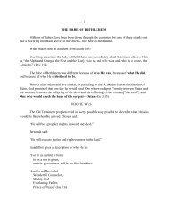 1 THE BABE OF BETHLEHEM Millions of babies ... - Vital Christianity