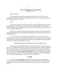 1 GOD'S SOVEREIGNTY & CHRISTMAS ... - Vital Christianity