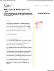 Gmail - Welcome to World Pn... - World Pneumonia Day