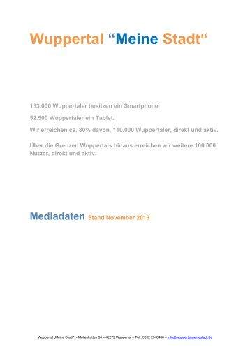 """Wuppertal """"Meine Stadt"""" - Medieadaten"""