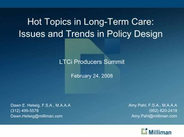 ltc 416 know more: hot topics in ltc insurance - Long Term Care ...