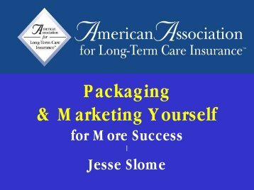 Packaging & Marketing Yourself